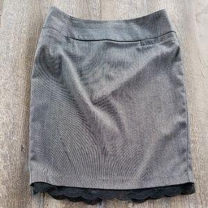 Black Gray Pencil Skirt
